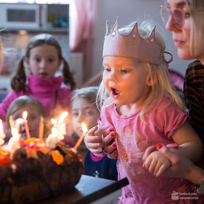Kindergeburtstagskuchen (kunterbunter Mamorkuchen) | Madame Cuisine Rezept
