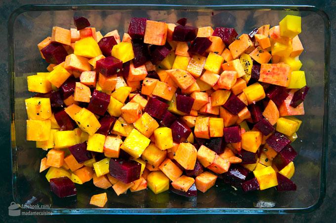 Blumenkohl-Reis-Bowl mit Ofengemüse | Madame Cuisine Rezept
