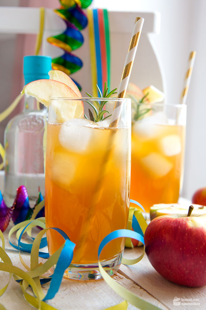 Gin-Fizz-Apfel: Fruchtiger Party-Drink | Madame Cuisine Rezept
