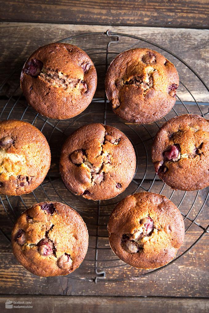Saftige Kirsch-Muffins mit Marzipan | Madame Cuisine Rezept