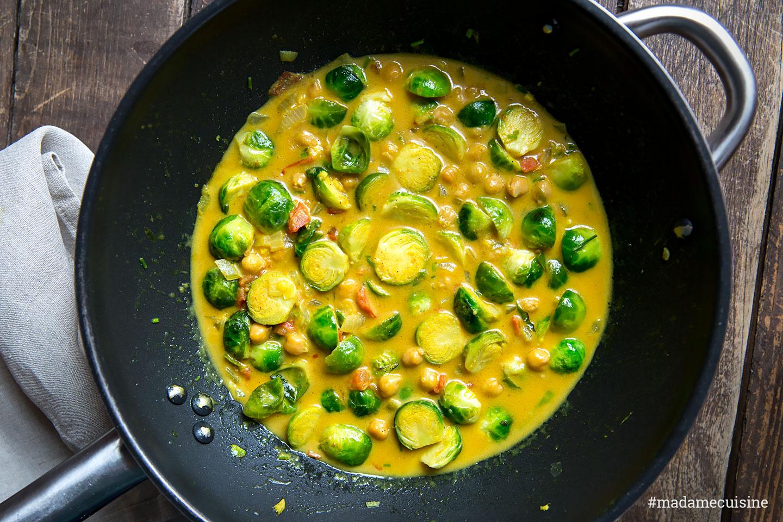 Rosenkohl Curry mit Kichererbsen   Madame Cuisine
