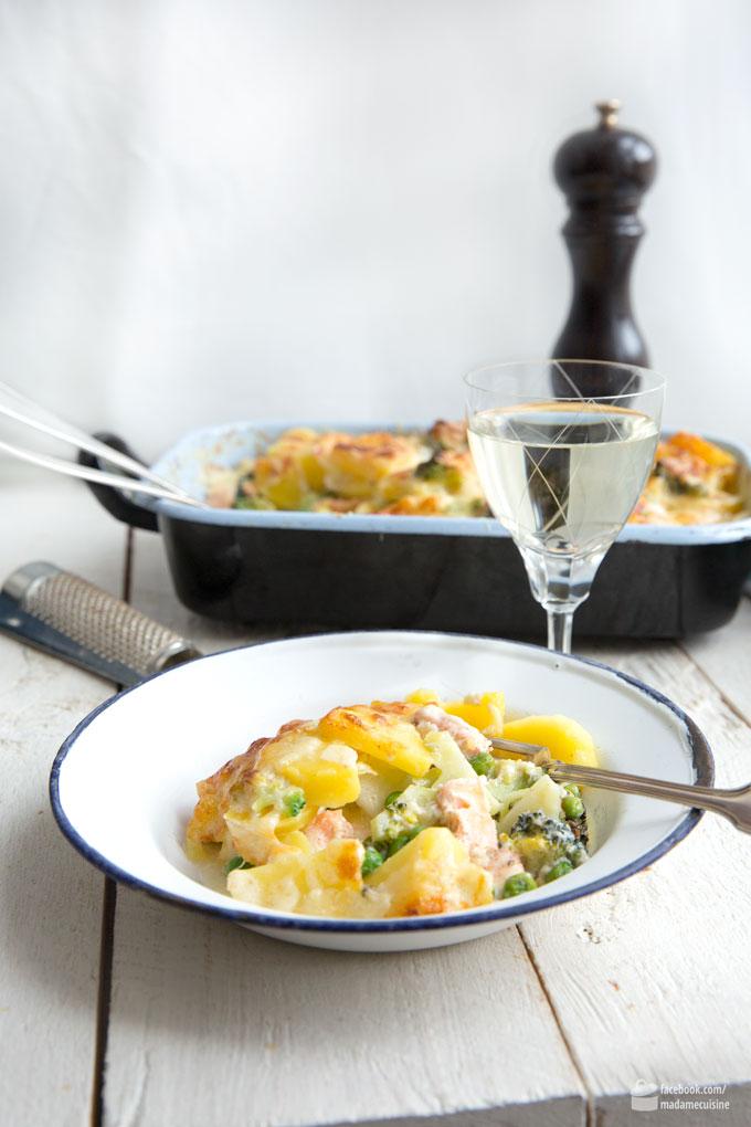 Kartoffel-Brokkoli-Auflauf mit Lachs | Madame Cuisine Rezept