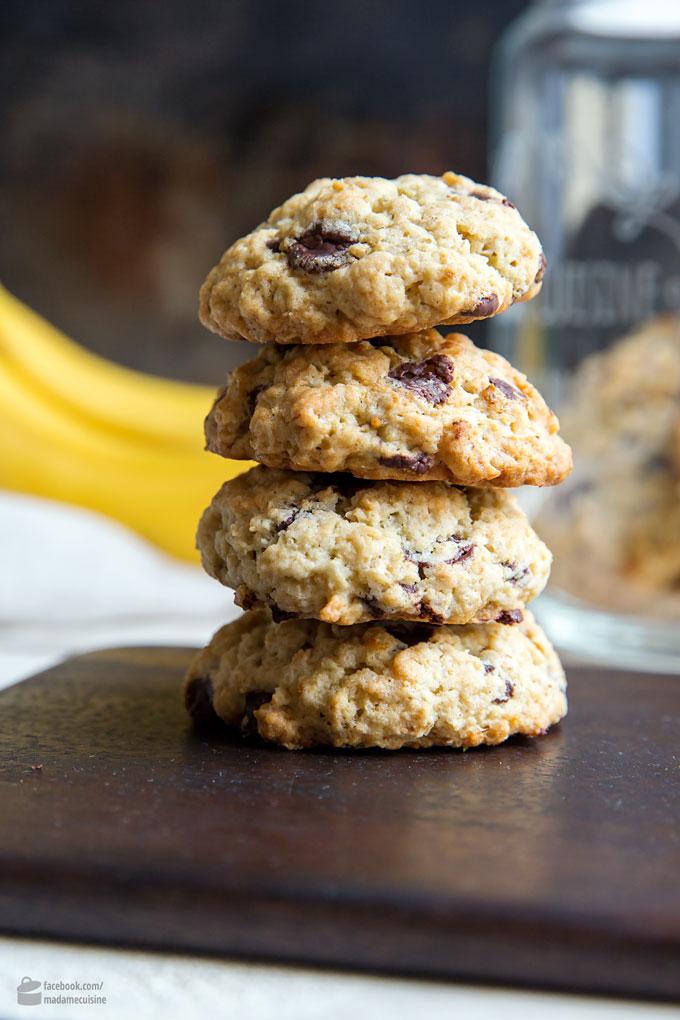 Chocolate-Chunk-Banana-Cookies | Madame Cuisine Rezept