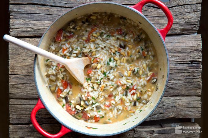 Risotto mit gerösteten Auberginen & Tomaten | Madame Cuisine Rezept