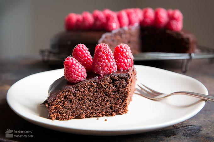Schokoladenkuchen mit Himbeeren | Madame Cuisine Rezept