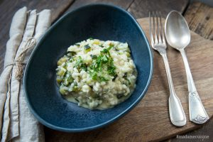 Cremiges Risotto mit Zucchini