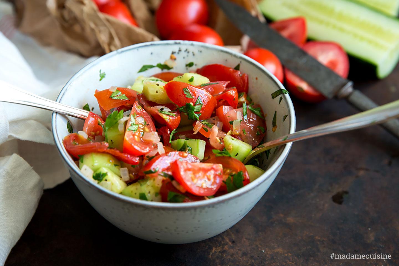 Tomaten Gurken Salat   Madame Cuisine