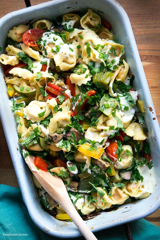 Überbackene Tortellini mit Gemüse | Madame Cuisine Rezept