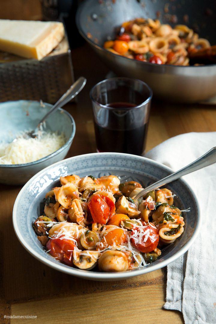 Orecchiette mit Kirschtomaten & Champignons | Madame Cuisine Rezept