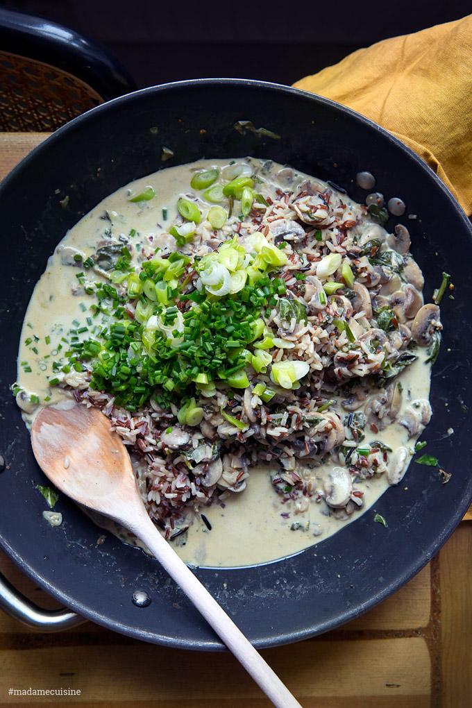 Stroganoff Pilz-Geschnetzeltes mit Wildreis | Madame Cuisine Rezept