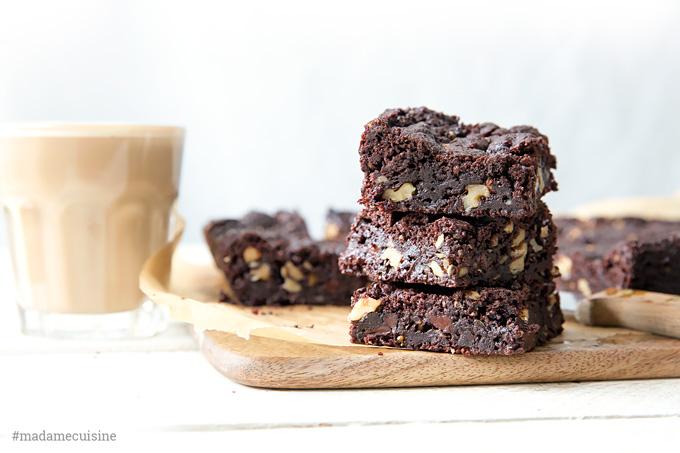 Vegane Brownies   Madame Cuisine Rezept