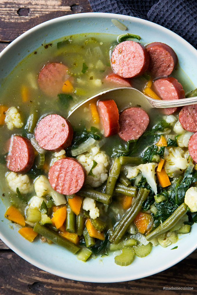 Gemüseeintopf mit Würstchen | Madame Cuisine Rezept