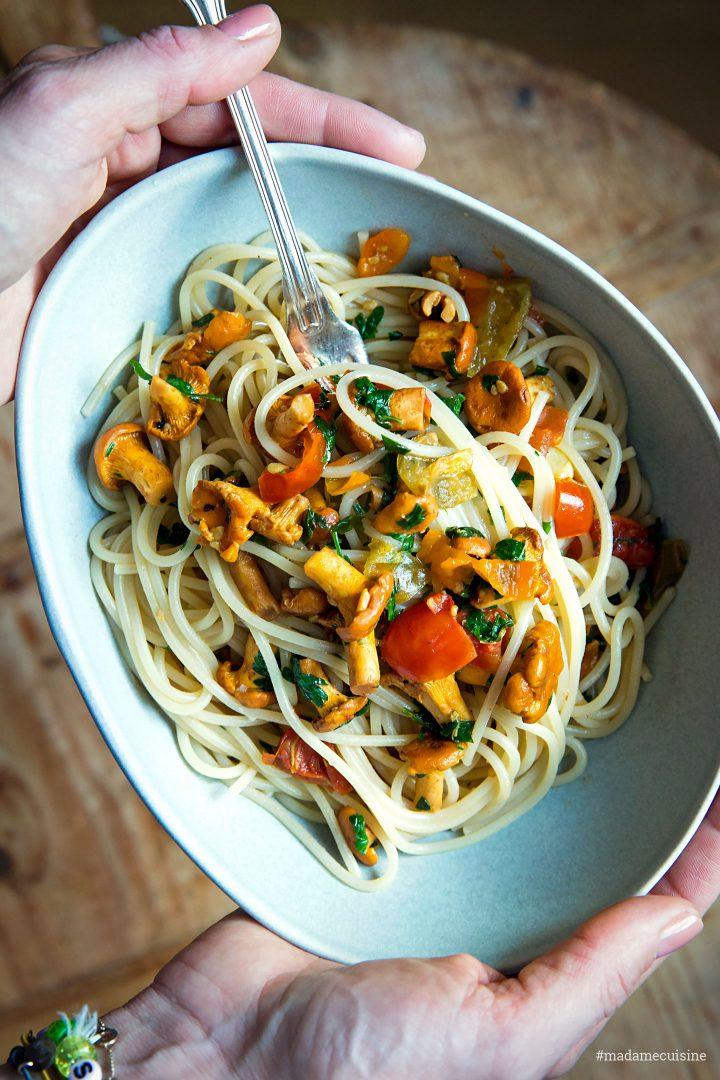 Spaghetti mit Pfifferlingen | Madame Cuisine Rezept