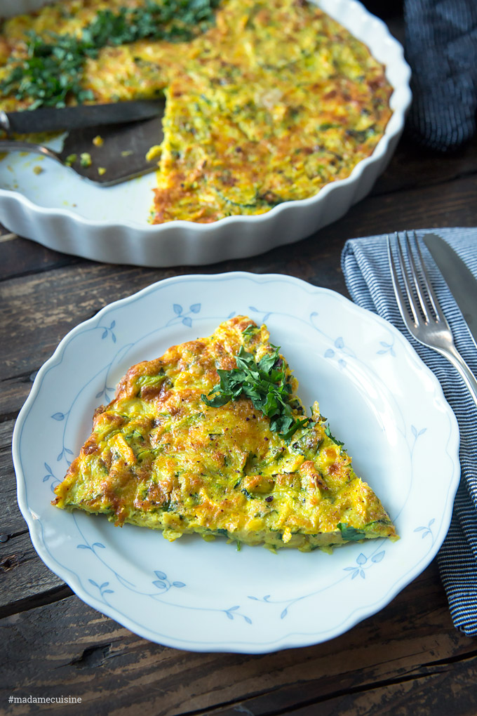 Zucchini-Frittata (italienisches Omelette) | Madame Cuisine Rezept