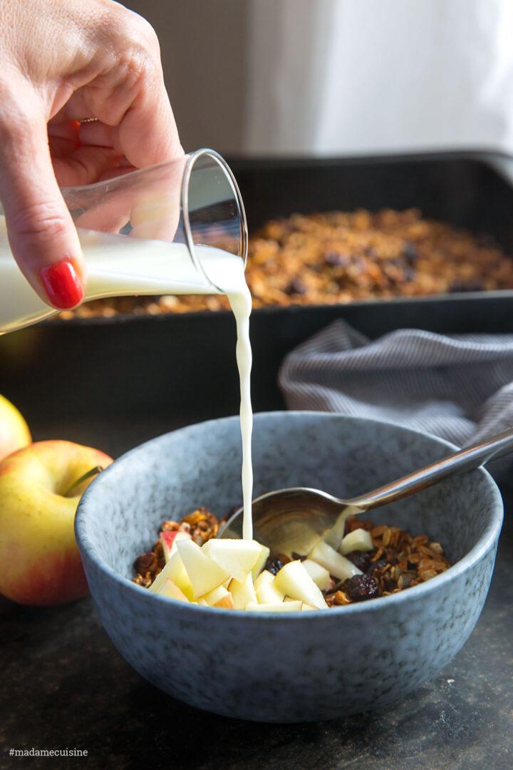 Knusper-Müsli mit Kürbis und Cranberries | Madame Cuisine Rezept
