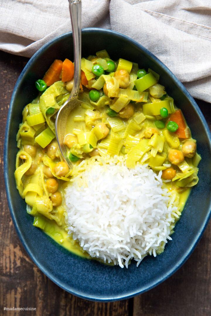Kokos-Curry mit Lauch | Madame Cuisine Rezept