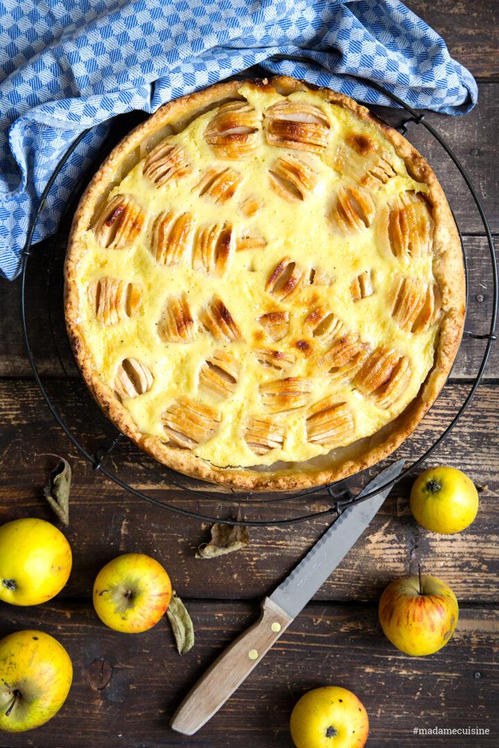 Elsässer Apfelkuchen mit Rahmguss | Madame Cuisine Rezept