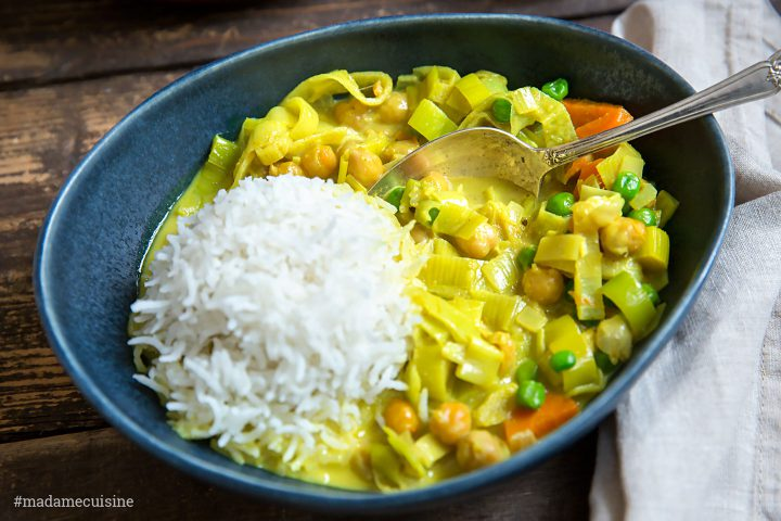 Kokos-Curry mit Lauch