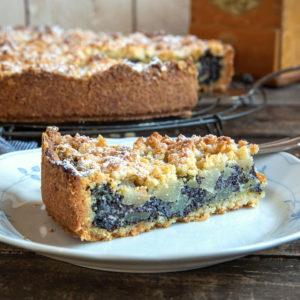 Mohn-Streuselkuchen mit Birne | Madame Cuisine Rezept