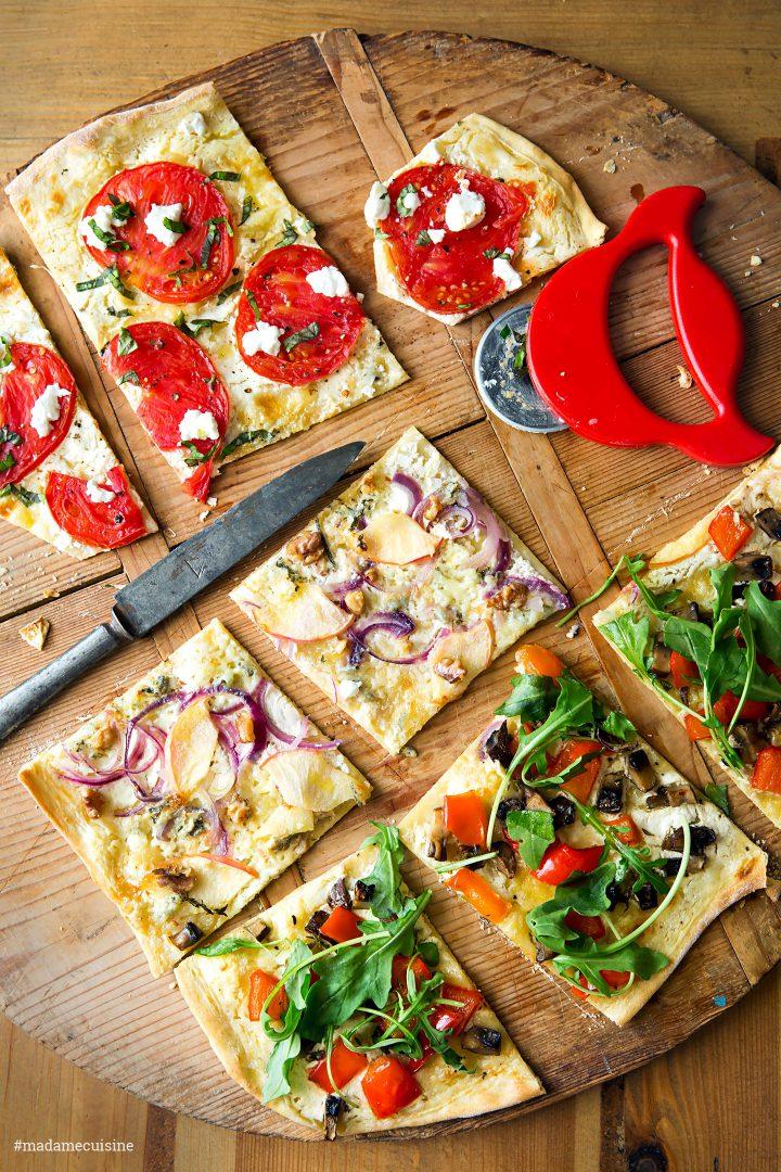 Gemüse-Flammkuchen: Herzhaft und knusprig | Madame Cuisine Rezept