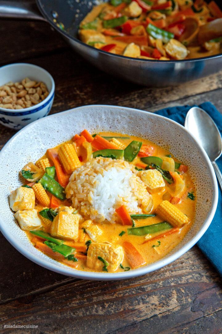 Rotes Thai Curry vegetarisch (mit Tofu) | Madame Cuisine Rezept