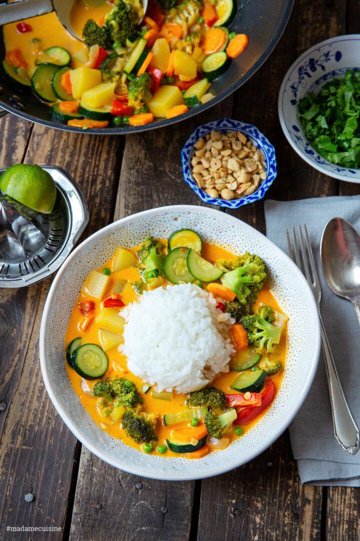 Curry mit Reis und Gemüse | Madame Cuisine Rezept