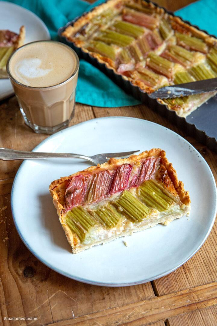 Rhabarbertarte mit Mascarpone-Mandelcréme | Madame Cuisine Rezept