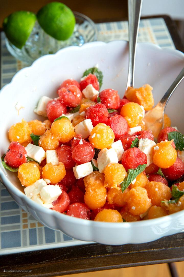 Sommerlicher Melonensalat mit Feta | Madame Cuisine Rezept