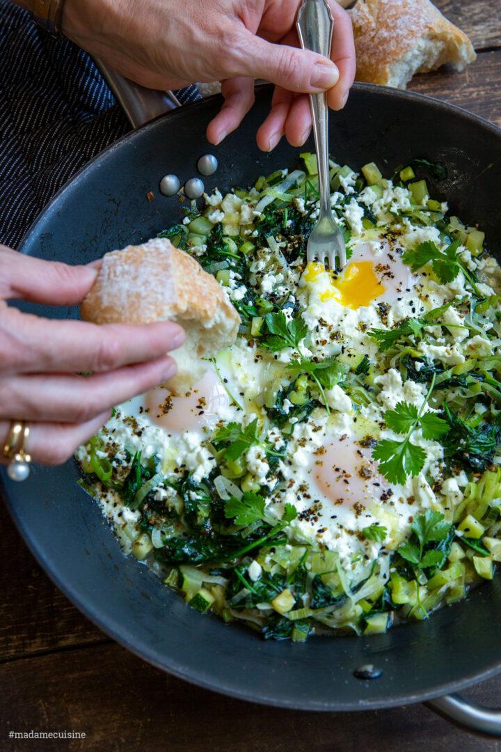 Grünes Shakshuka | Madame Cuisine Rezept