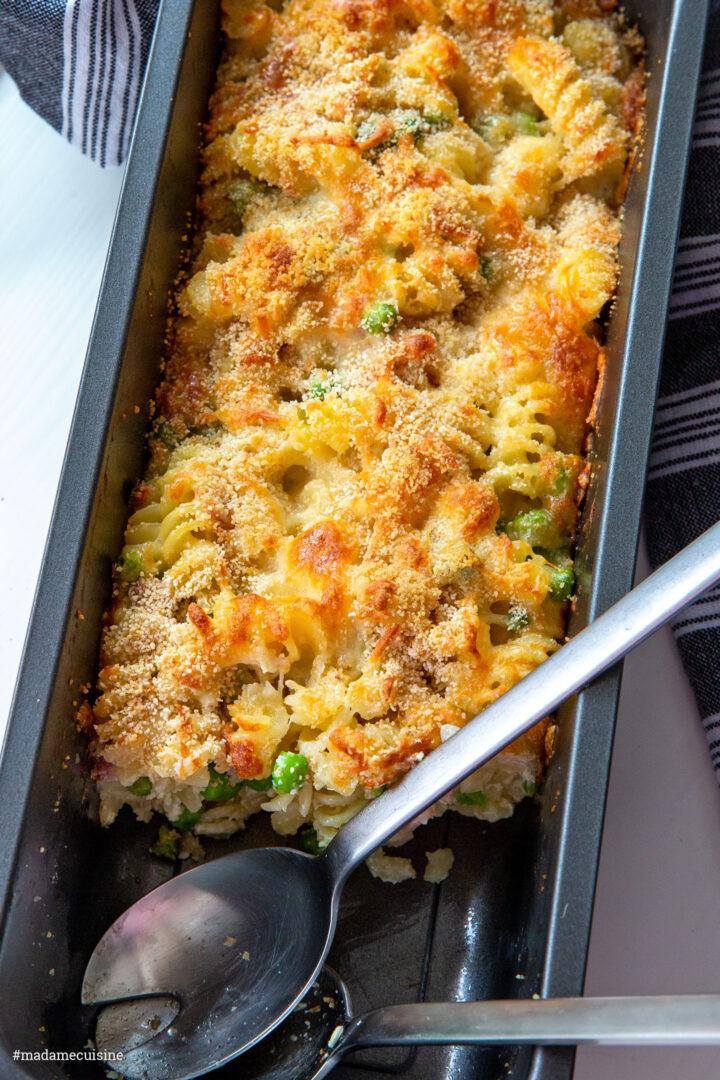 Nudelauflauf mit Erbsen und Kochschinken | Madame Cuisine Rezept