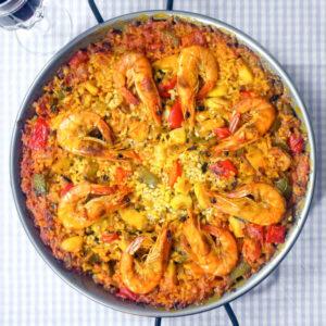 Paella mit Meeresfrüchten (de Mariscos) | Madame Cuisine Rezept