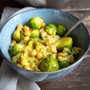 Rosenkohl-Curry mit Kichererbsen | Madame Cuisine Rezept