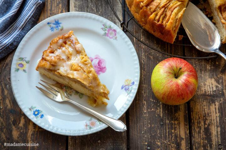 Apfelkuchen mit Ingwer und Karamell | Madame Cuisine Rezept