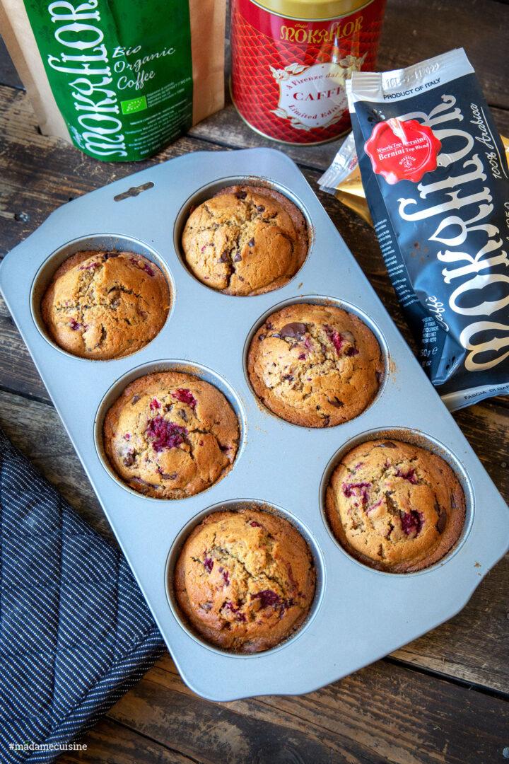 Schoko-Himbeer-Muffins mit Espresso | Madame Cuisine Rezept