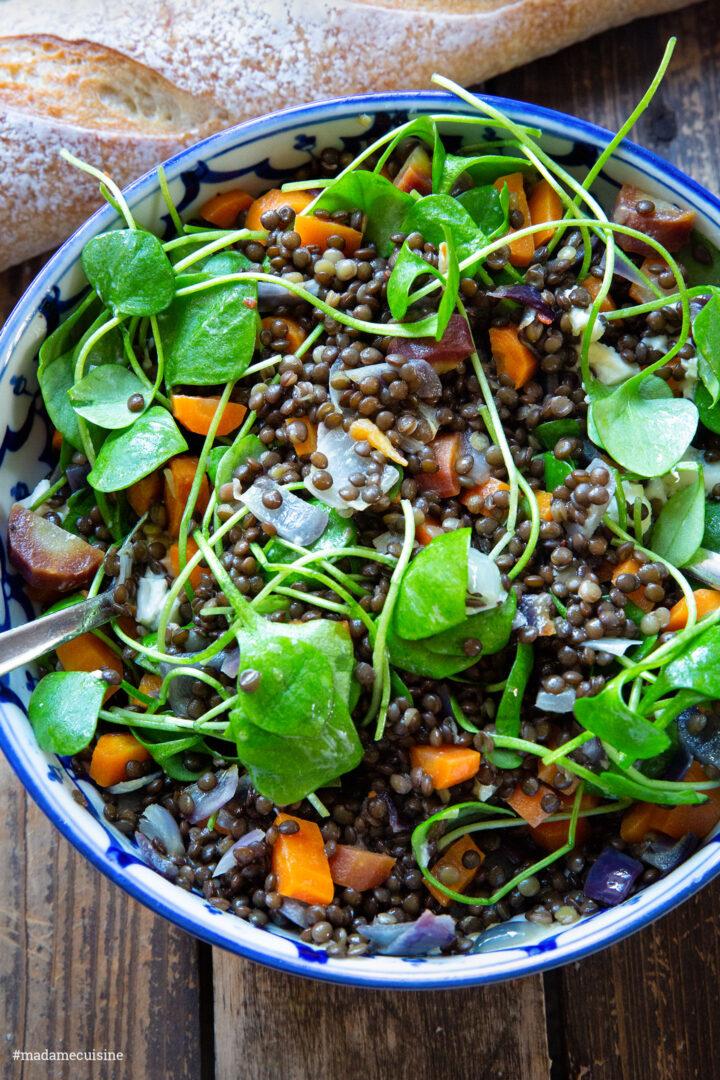 Wintersalat mit Karotten & Linsen | Madame Cuisine Rezept