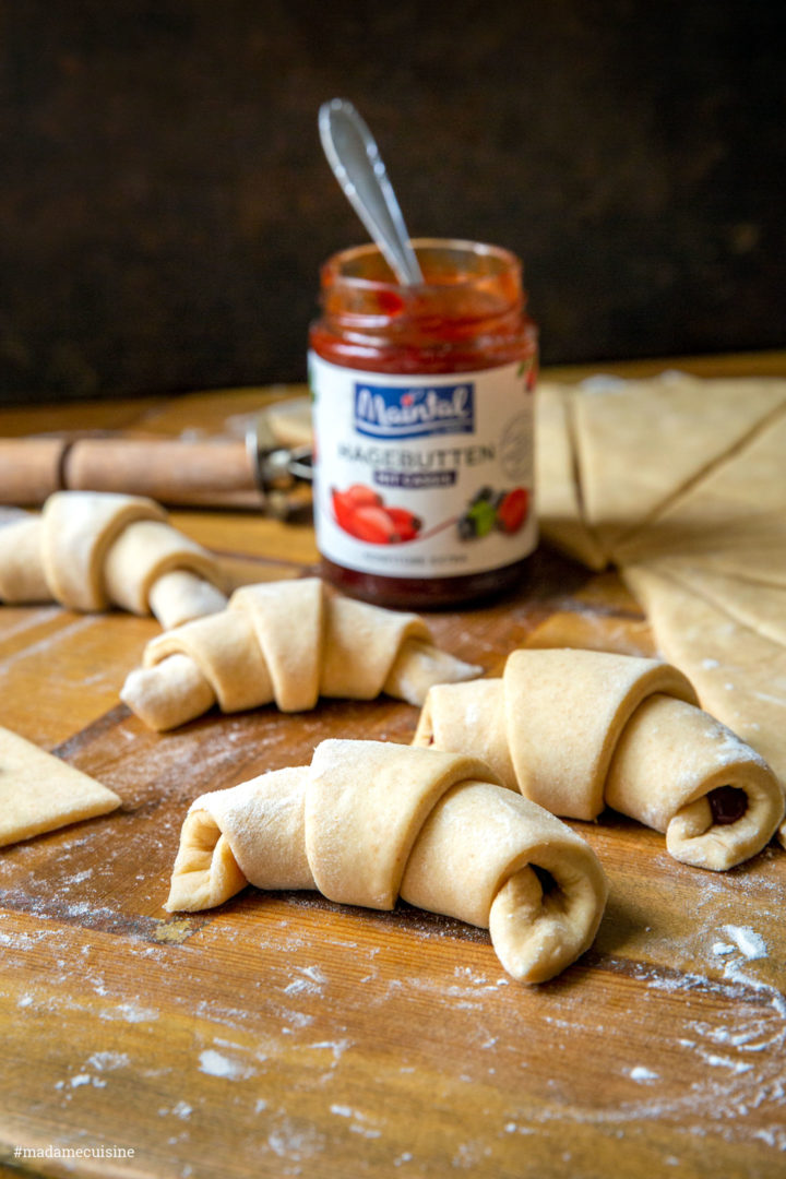 Marmeladen-Hörnchen mit Maintal Hagebutten-Cassis | Madame Cuisine Rezept