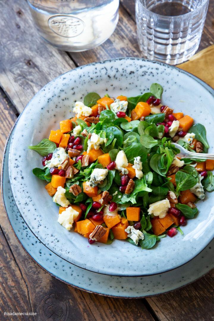 Feldsalat mit Süßkartoffel und Gorgonzola | Madame Cuisine Rezept