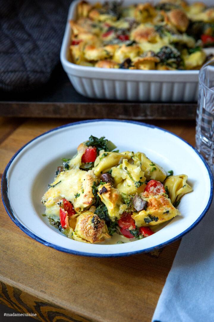 Vegetarischer Tortellini-Auflauf | Madame Cuisine Rezept