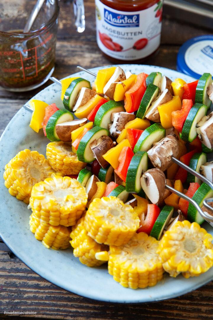Gemüsespieße vom Grill | Madame Cuisine Rezept