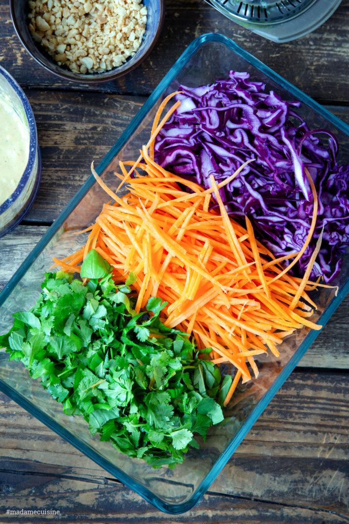 Thai-Spaghetti-Salat mit Erdnusssauce | Madame Cuisine Rezept