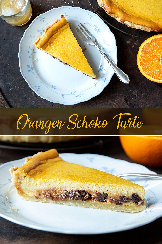Orangen-Schoko-Tarte