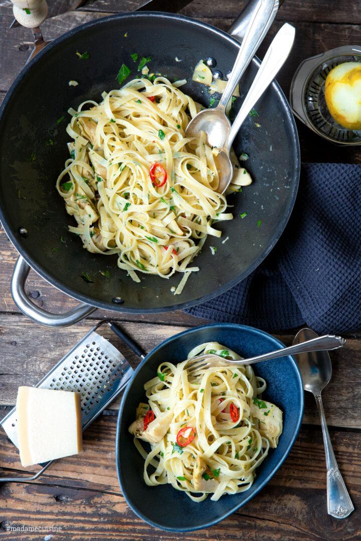 Tagliatelle mit Artischocken | Madame Cuisine Rezept
