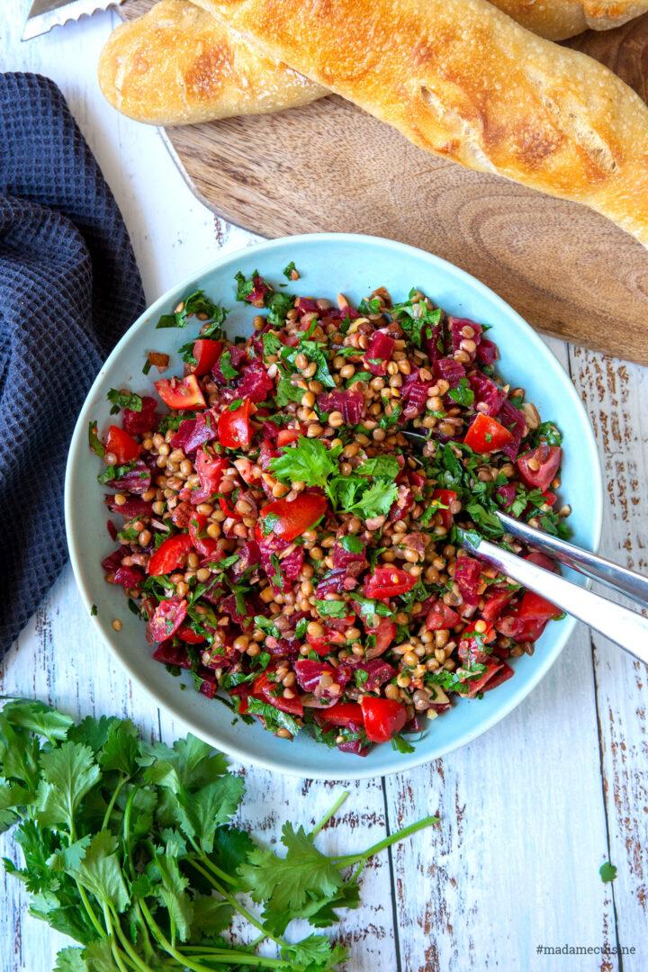Rote Bete Linsensalat | Madame Cuisine Rezept
