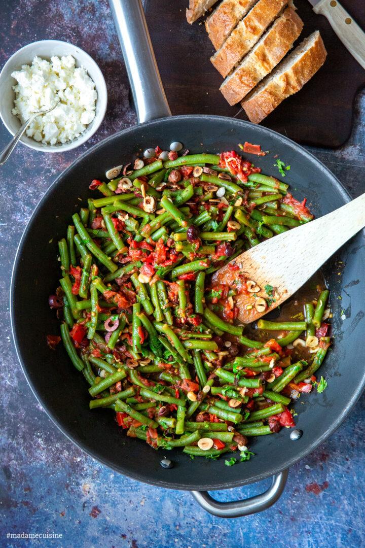 Bohnen mit Tomaten   Madame Cuisine Rezept