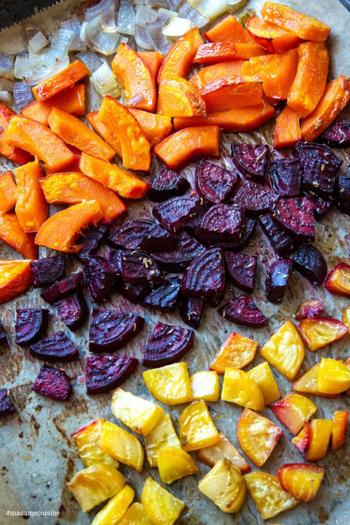 Herbstliches Ofengemüse mit Cranberry-Dip   Madame Cuisine Rezept