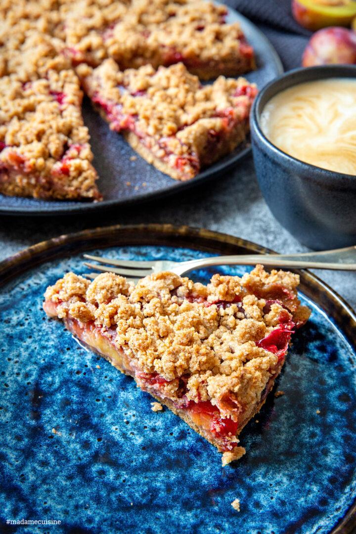 Zwetschgenkuchen mit Streuseln   Madame Cuisine Rezept