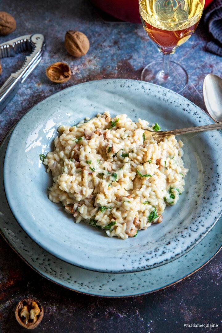 Risotto mit Walnüssen, Gorgonzola und Rucola | Madame Cuisine Rezept