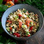 Couscous mit Tomate, Gurke, Feta & Kräutern | Madame Cuisine Rezept