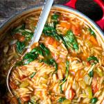 Orzo-Eintopf (Reisnudel-Eintopf) mit Spinat   Madame Cuisine Rezept