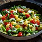 Gnocchi mit grünem Spargel und Bärlauchpesto | Madame Cuisine Rezept